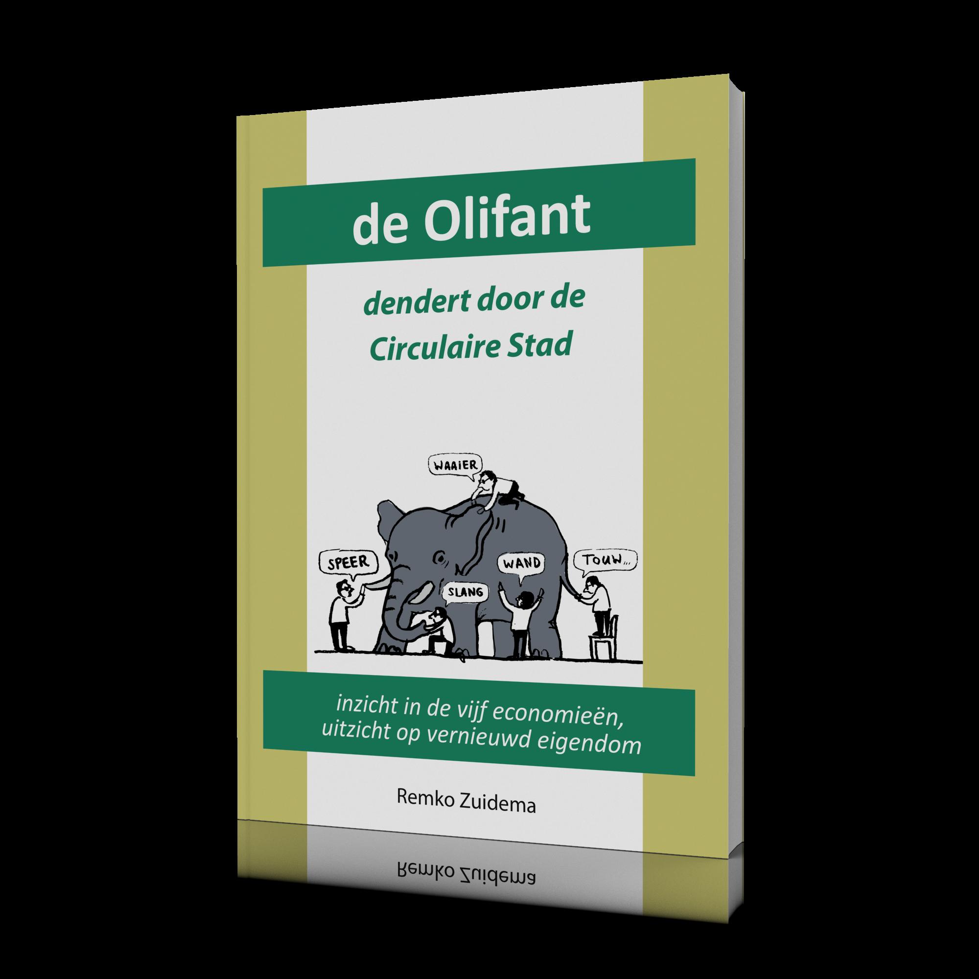 3D Cover boek de Olifant dendert door de Circulaire Stad v1.1