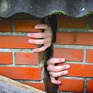 Hand muur